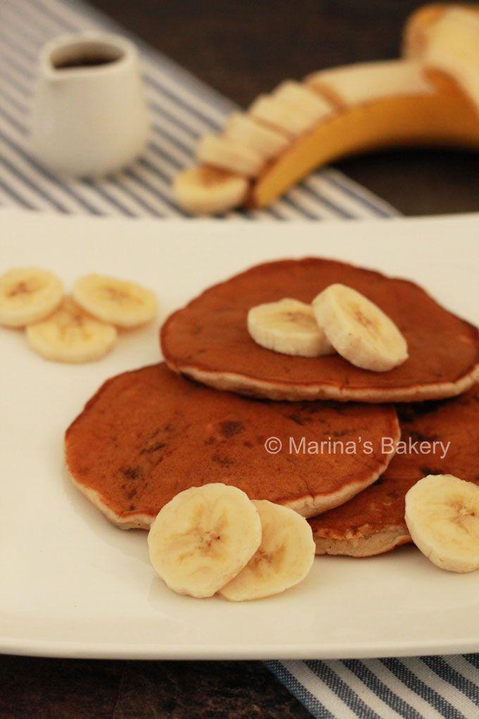 Banaan Chocolate Chip Pancakes