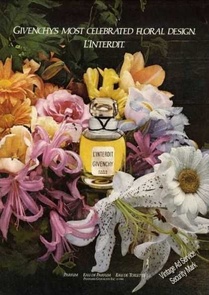 Givenchy L'interdit Perfume Beautiful Flowers (1980)