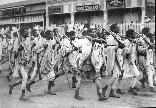 Italian invasion of Abyssinia (Ethiopia) 1935: Barefoot ...