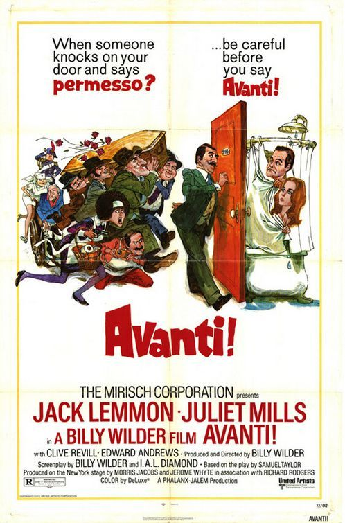 "MP479. ""Avanti!"" Movie Poster by  Sanford Kossin (Billy Wilder 1972) / #Movieposter"