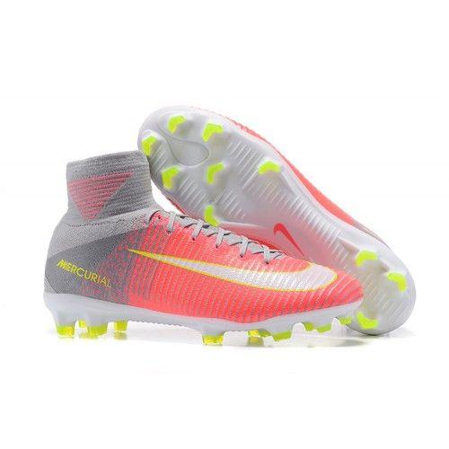 2017 Nike Mercurial Superfly V FG Botas De Futbol Rosa Gris