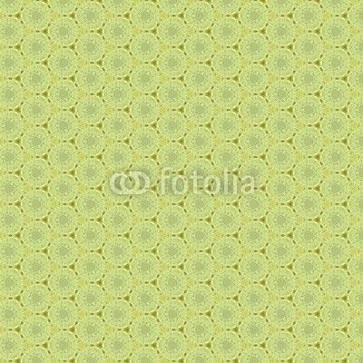 abstract and geometrical ornament, green