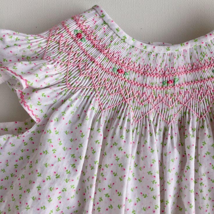 Smocked Easter Dress, Smocked Dress Baby Girl, Smocked Dress Size 2, Smocked Bishop Dress by CalicoThreadsCo on Etsy https://www.etsy.com/listing/490137897/smocked-easter-dress-smocked-dress-baby