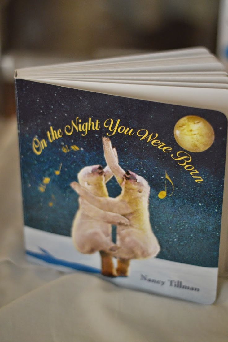 Have visitors at hospital sign on the night you were born board book as a keepsake for the new baby!