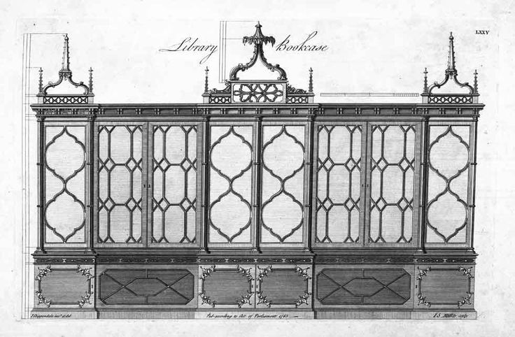 Chippendale Gothic bookcase