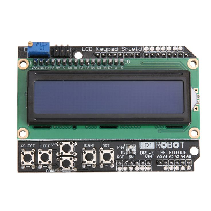 LCD Keypad Shield LCD1602 LCD 1602 Display Module Blue Screen For Uno ATMEGA328 ATMEGA2560 Raspberry Pi DIY