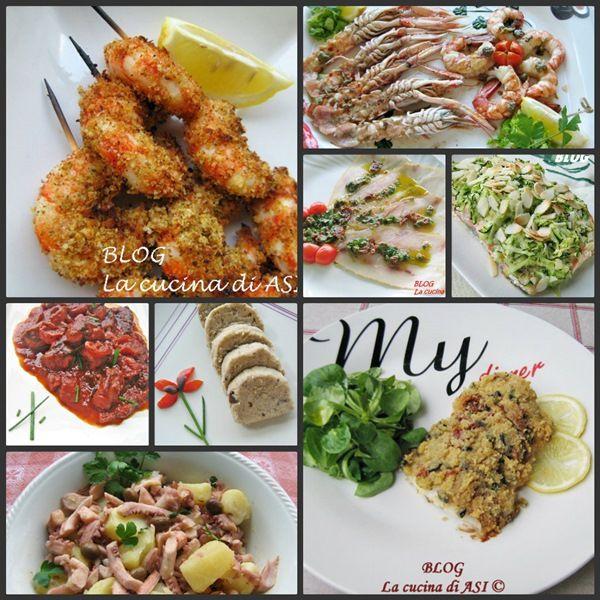 Per il menù di Ferragosto, oggi vi propongo alcuni piatti con salmone, tonno, merluzzo, polpo, branzino e pesce spada!Ricette secondi pesce La cucina di ASI