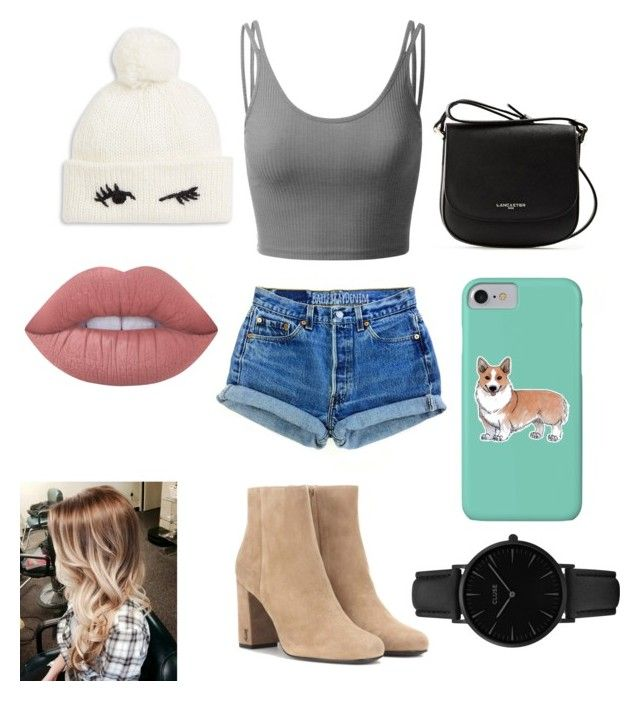 """🐘"" by sophievanderkooy on Polyvore featuring Doublju, Yves Saint Laurent, Lancaster, Kate Spade, Corgi, Lime Crime and CLUSE"
