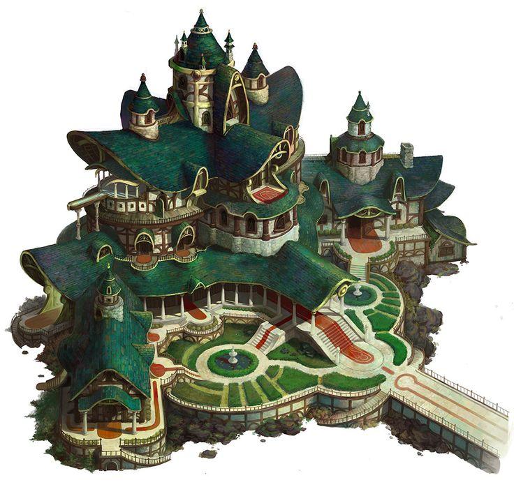 Castle of elf, hee uk Jung on ArtStation at https://www.artstation.com/artwork/3aO0A