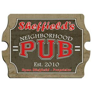 Neighborhood Pub  Pub Sign - Personalized Vintage Style