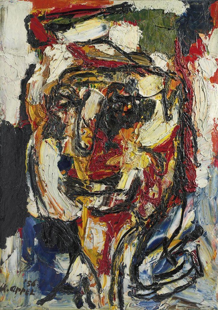 'Portrait d'Emmanuel Looten' (1956) by Karel Appel