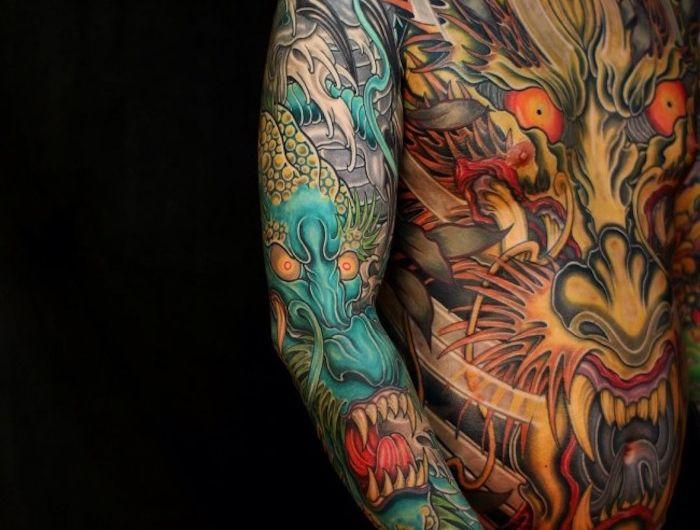 les 25 meilleures id es de la cat gorie tatouages dragon. Black Bedroom Furniture Sets. Home Design Ideas