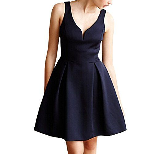 Partiss Damen Frauen 60er Vintage V-Ausschnitt Klassisch Elegant Franzoesisch Stil Schleife Aermellos Knielang Kleid, Tag S/EU XXS,Black Partiss http://www.amazon.de/dp/B01E8ITLFO/ref=cm_sw_r_pi_dp_cR0dxb03G9ZEH