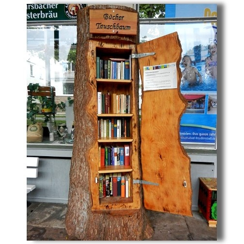 Book Tree from Germany I would especially love this if it was a tree that had fallen in a storm as opposed to being chopped down