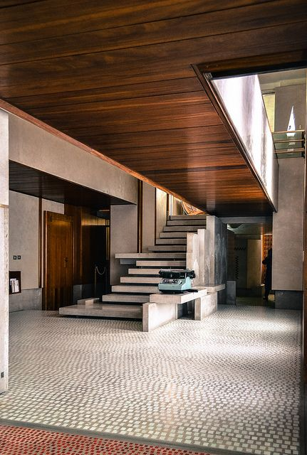 Olivetti Showroom. Venice, Italy. 1957-58. Carlo Scarpa.Photo by Emilio Trevisiol