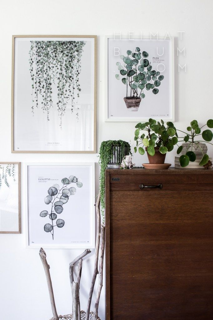 Urban Botanic prints By My Deer Art Shop. Picture credits: Blog - HEIMATBAUM