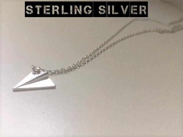 Paper Plane Necklace, Airplane Necklace, Sterling Silver Necklace, Plane Necklace, Aeroplane Necklace by Instyleglamour on Etsy