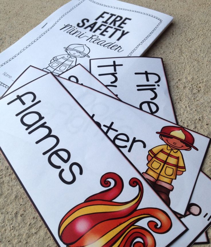 Fire Safety Reader and Vocabulary Cards Freebie.