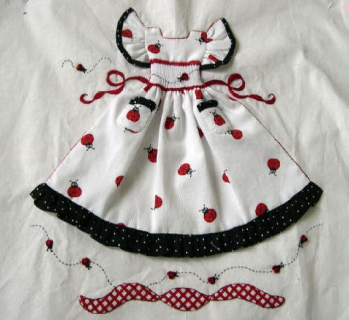 What a great way to use scraps from your daughter's/granddaughter's clothes.  :)