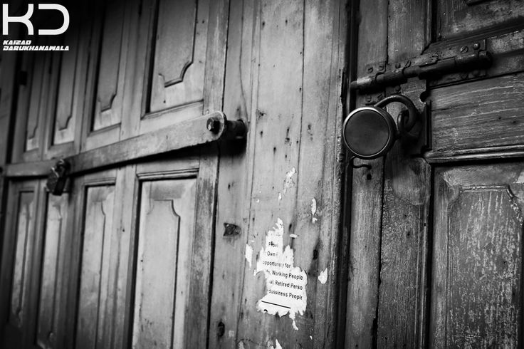 Old wooden Doors. By Kaizad Darukhanvala who is getting his degree in Photography.