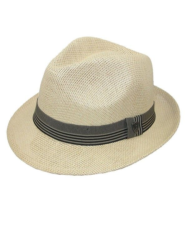 19818ff92 Men's Toyo Straw Fedora With Ribbon Band Natural C017YD2E7HK in 2019 ...