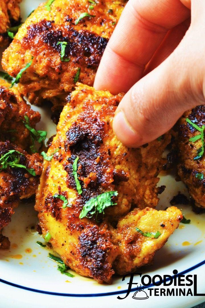Achari Chicken Tikka Spiced Chicken Tikka Tikka Recipe Chicken Snacks Indian Chicken Recipes