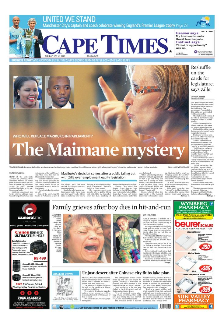 News making headlines: Reshuffle on the cards for legislature, say Zille