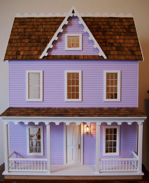1000 images about doll house on pinterest dollhouse for Farmhouse kit homes