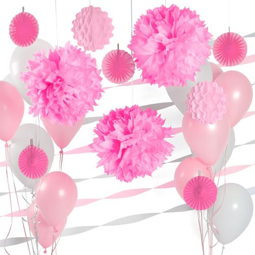 pink and white decor kit for baby showers baby shower decoration ideas