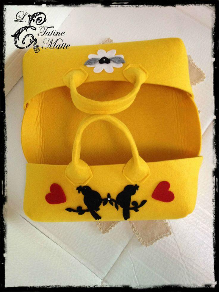 Porta torte in feltro, by Le Tatine Matte, 15,00 € su misshobby.com