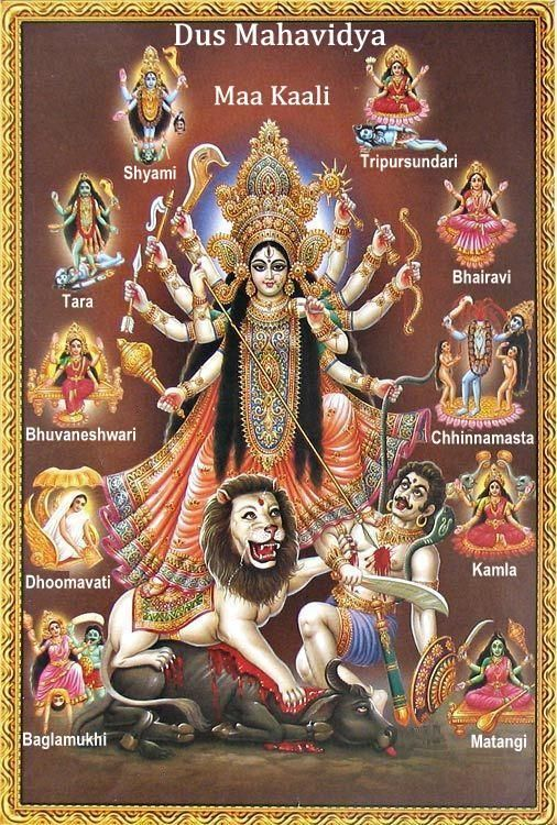 Mahavidyas - forms of the Goddess.