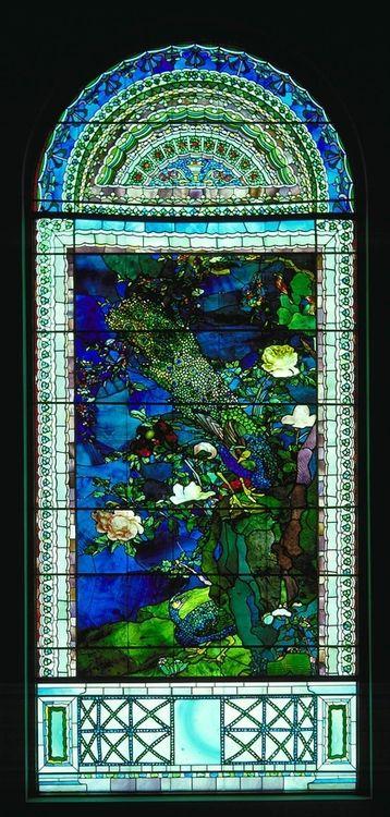 Peacocks and Peonies I —- John La Farge, 1882