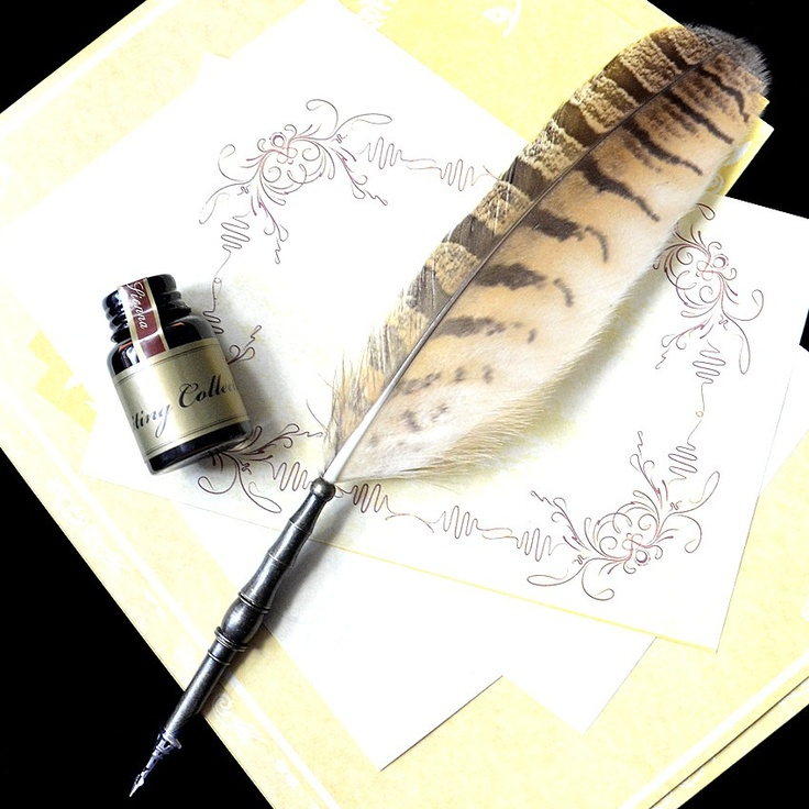 Feather quill pen and ink | Quills & Parchment | Pinterest ...