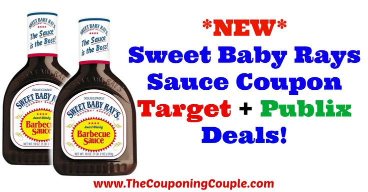 GREAT DEALS!!! *NEW* Sweet Baby Rays Sauce Coupon ~ Target + Publix Deals!  Click the link below to get all of the details ► http://www.thecouponingcouple.com/new-sweet-baby-rays-sauce-coupon-target-publix-deals/ #Coupons #Couponing #CouponCommunity  Visit us at http://www.thecouponingcouple.com for more great posts!