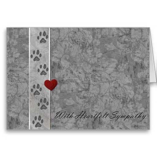 Pet loss Sympathy Greeting Card http://www.zazzle.com/pet_loss_sympathy_greeting_card-137000542929671361?rf=238282136580680600