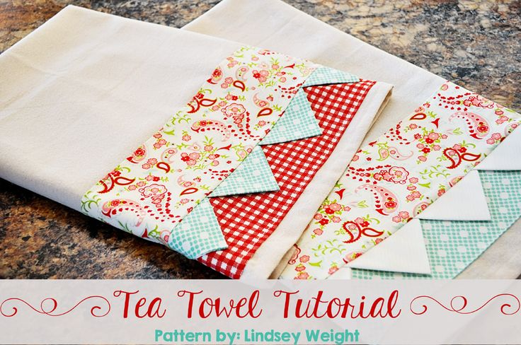 Adorable Tea Towel Tutorial { lilluna.com } Super cute and easy to make and makes a great gift!