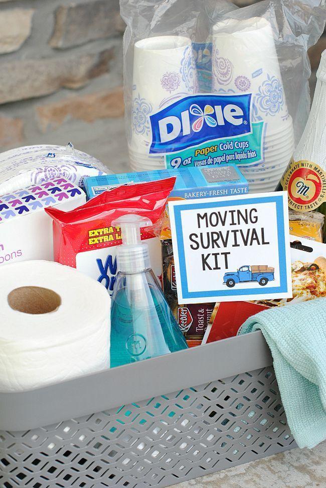 Fun Useful Moving Gift Basket