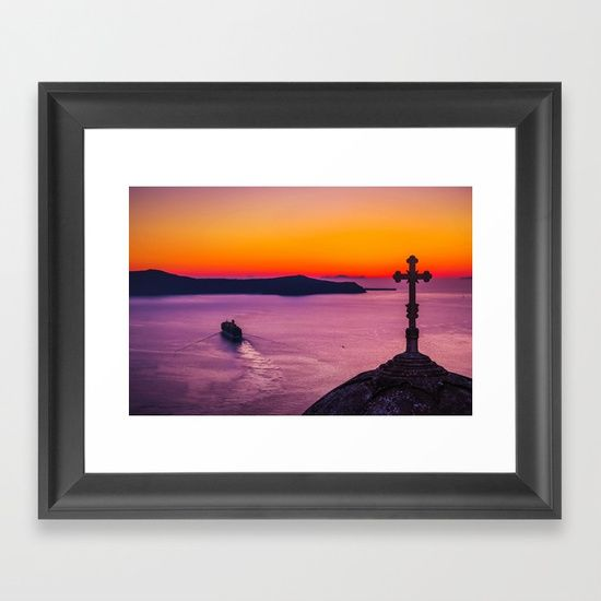 wonderful view Framed Art Print