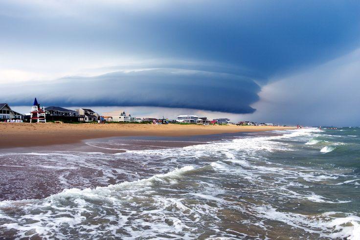Sandbridge Beach, Thunderstorm - Beautiful skies the day before yesterday