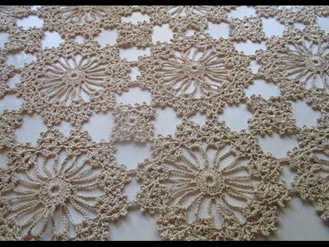 Uncinetto Crochet Ccentro Tavolo Catenella - YouTube
