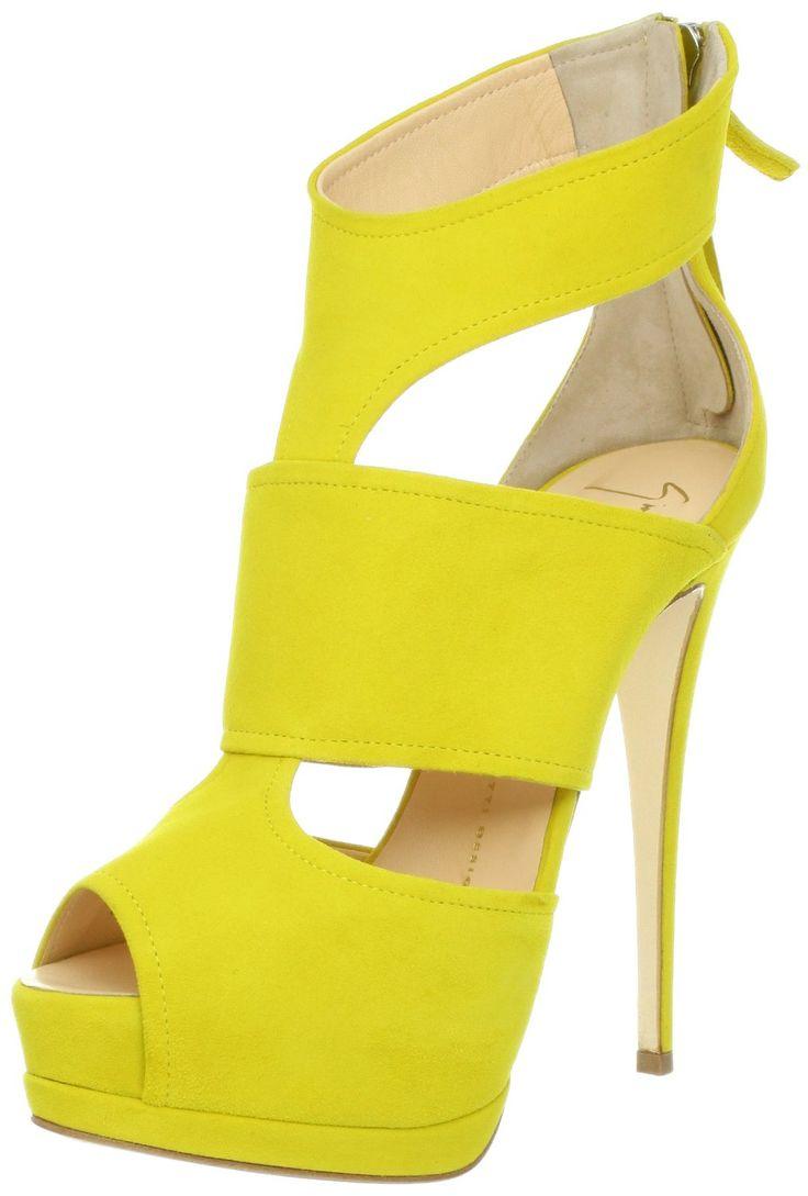 Giuseppe Zanotti Women's E30049 Peep-Toe Pump-Yellow