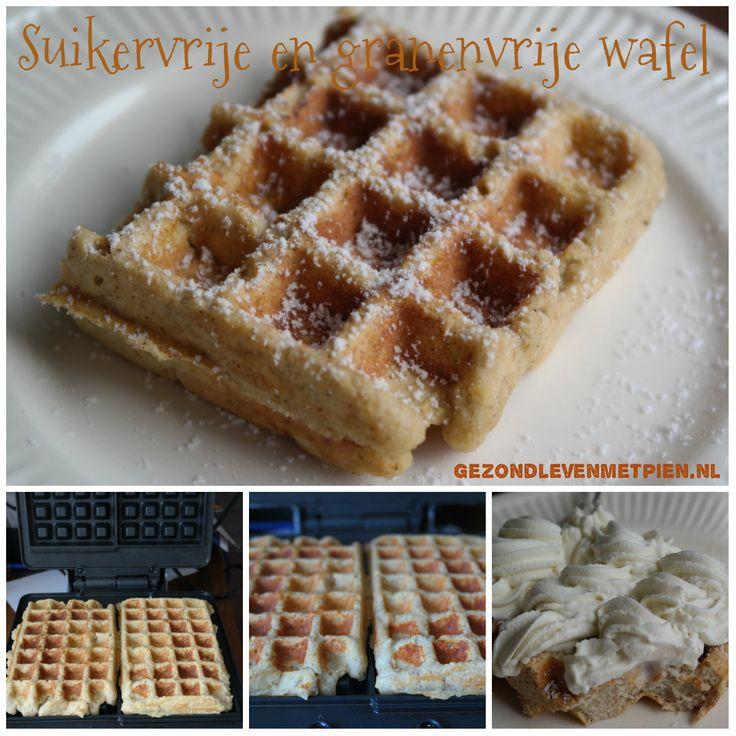 Zuivelvrije, suikervrije en granenvrije wafels zelf maken is eenvoudig…