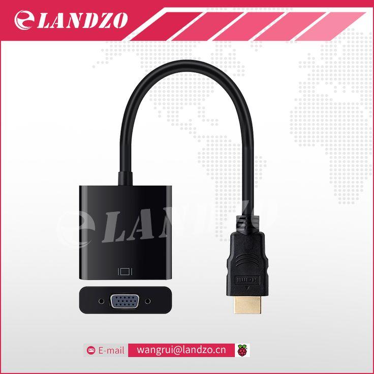 HDMI To VGA Converter high quality raspberry pi 3 HDMI VGA Adapter for Computer Projector set top box for Orange pi PC