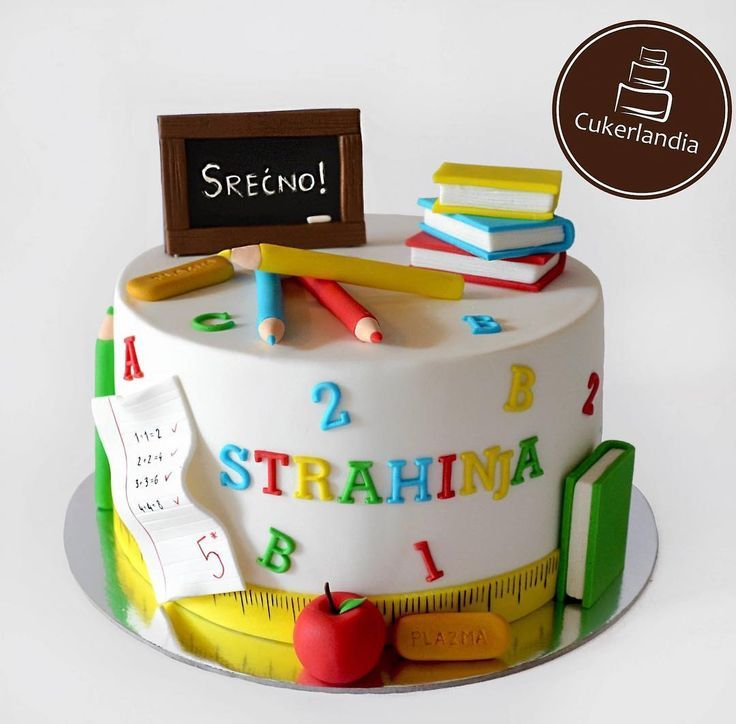 Za djaka prvaka 🎒📚 #school #schoolcake #firstdayofschool #cakeideas #cakedecorating -