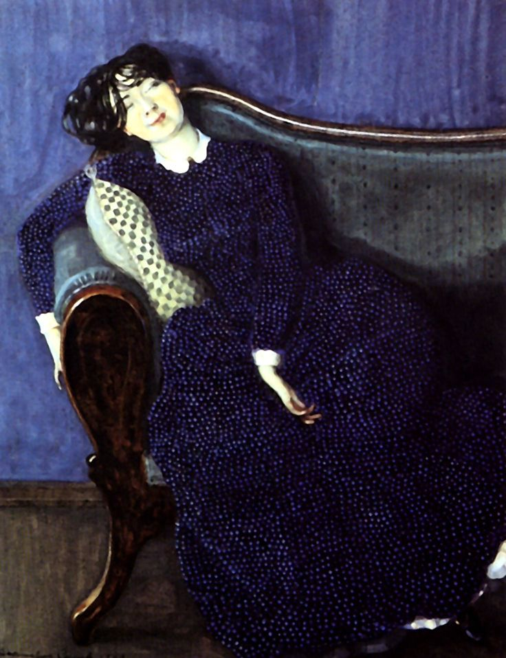 Konstantin Somov - Спящая молодая женщина, 1909