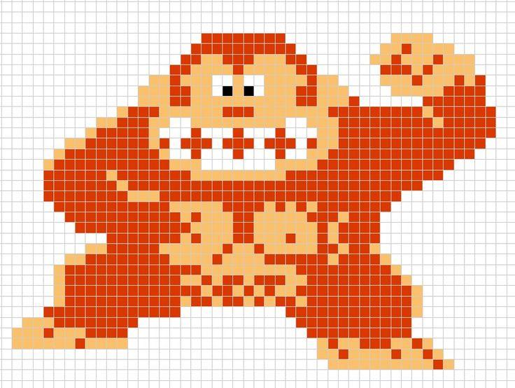 Donkey Kong Perler Bead Pattern Perler Bead Art