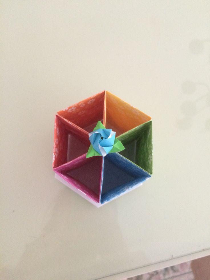 origami pencil holder made it myself diy crafts