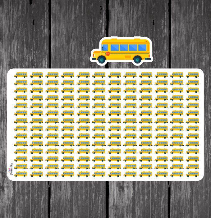 School Bus Planner Stickers- Erin Condren, Kikki K, Filofax, Plum Paper, Limelife, Happy, Back to School, Teacher, Bus, Education, Mini by PlannerBliss on Etsy https://www.etsy.com/listing/499021836/school-bus-planner-stickers-erin-condren