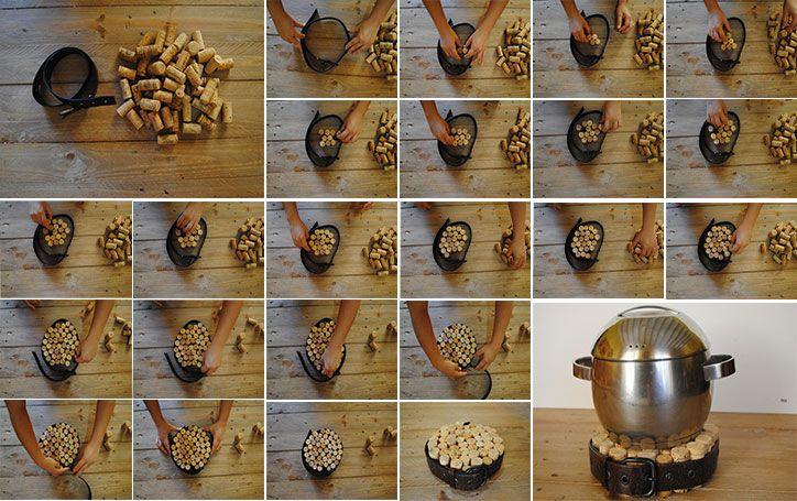 DIY: un salvamanteles de corcho