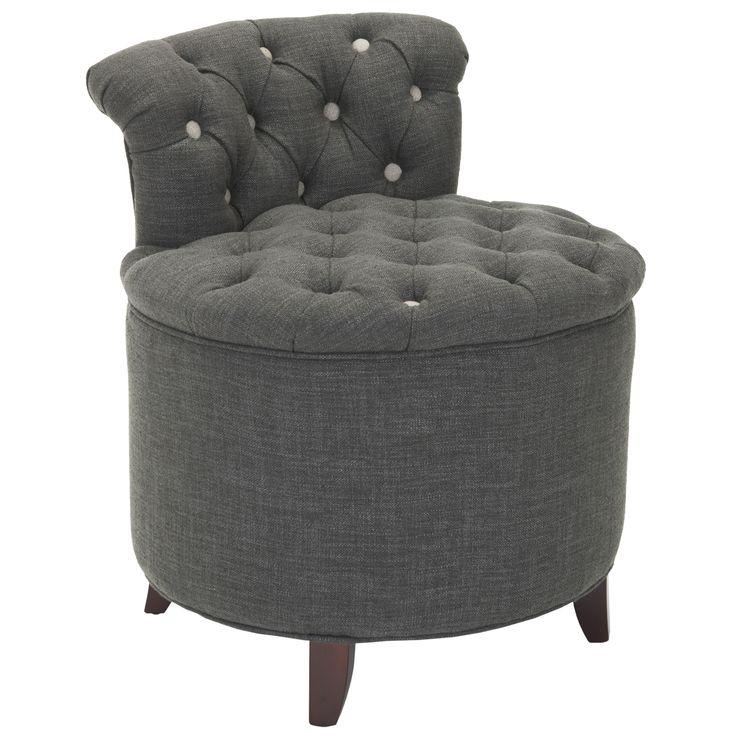 Bathroom vanity chairs with backs vanity stool gray